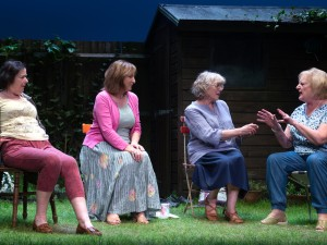 Linda Bassett, Deborah Findlay, Kika Markham and June Watson in Escaped Alone. Photo: Bill Knight