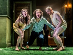 Danielle Flett, Kit Harington and Forbes Masson in Doctor Faustus. Photo: Marc Brenner