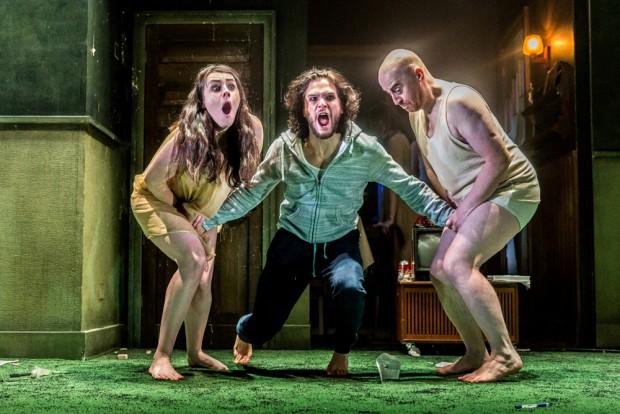 Danielle Flett, Kit Harington and Forbes Masson in Doctor Faustus. Photo: Marc Brenner