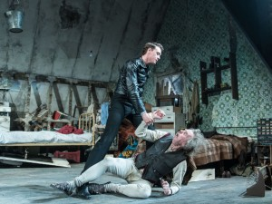George MacKay and Timothy Spall in The Caretaker. Photo: Manuel Harlan