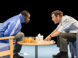 Daniel Kaluuya and Luke Norris in Blue/Orange. Photo: Johan Persson