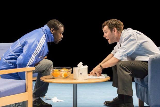 Daniel Kaluuya and Luke Norris in Blue/Orange. Photo: Johan Persson