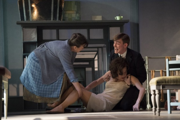 Marion Bailey, Helen McCrory and Hubert Burton in The Deep Blue Sea. Photo: Richard Hubert Smith