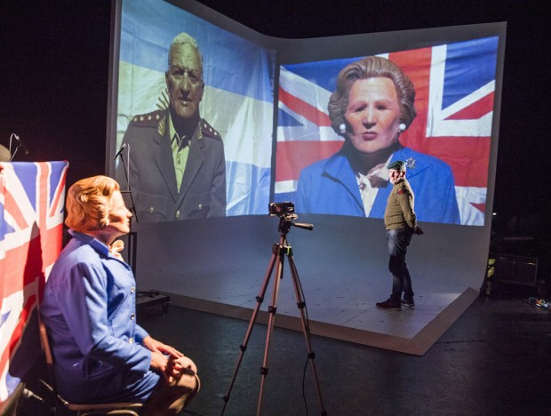David Jackson and Lou Armour in Minefield. Photo: Tristram Kenton