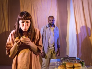 Rosie Wyatt and Lindon Alexander in Mumburger. Photo: Helen Murray