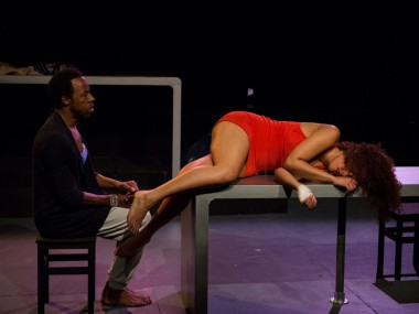 Derek Elroy and Eloise Joseph in Screwed. Photo: Sophie Mutevelian