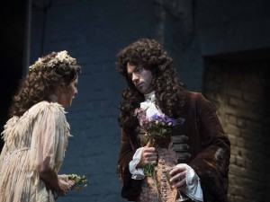 Ophelia Lovibond and Dominic Cooper in The Libertine. Photo: Alastair Muir