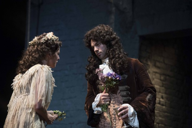 Ophelia Lovibond and Dominic Cooper in The Libertine. Photo: Alastair Muir
