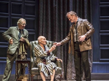 Ian McKellen, Patrick Stewart and Owen Teale in No Man's Land. Photo: Johan Persson