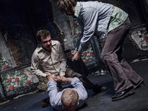 Joel Gillman, Tim Faulkner and Will Bliss in Magnificence. Photo: Tegid Cartwright