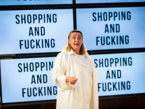 Ashley McGuire in Shopping and Fucking. Photo: Helen Murray