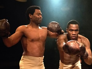 Nicholas Pinnock and Martins Imhangbe in The Royale. Photo: Bill Knight