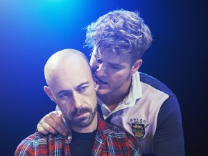 Richard De Lisle and Hadyn Whiteside in Fucking Men. Photo: Geraint Lewis