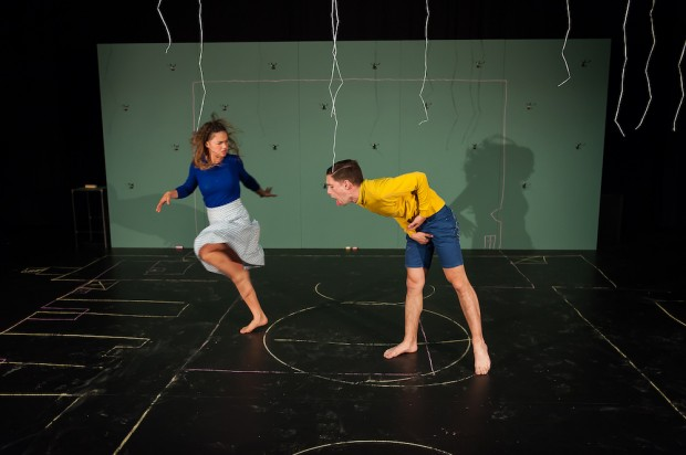 Gytha Parmentier and Roman Van Houtven in Us/Them. Photo: Murdo Macleod