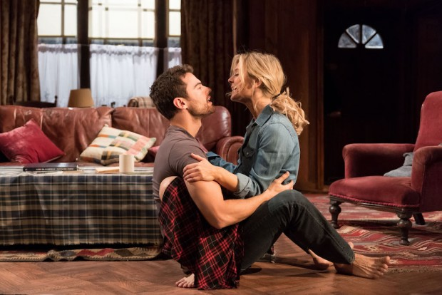Theo James and Emilia Fox in Sex with Strangers. Photo: Manuel Harlan