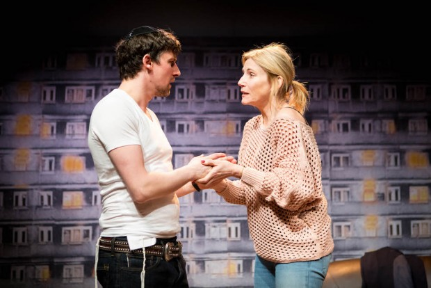 Joe Coen and Michelle Collins in A Dark Night in Dalston. Photo: Helen Murray