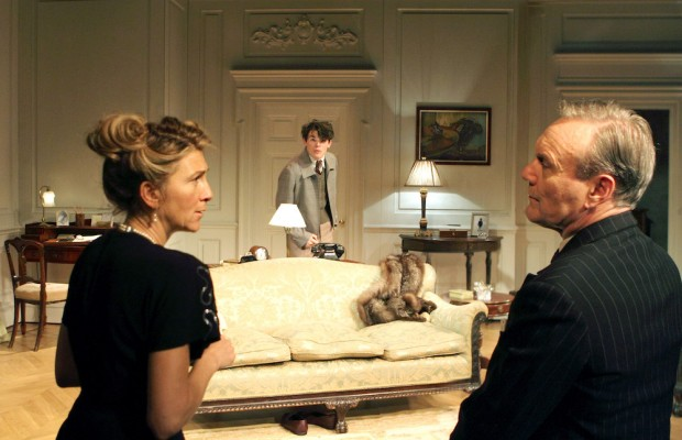 Eve Best, Edward Bluemel and Anthony Head in Love in Idleness. Photo: Catherine Ashmore