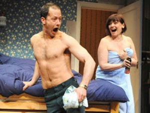 Daniel Betts and Finty Williams in Bedroom Farce. Photo: Alastair Muir