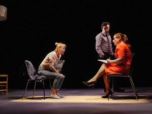 Anna Maxwell Martin, Ben Chaplin and Heather Craney in Consent. Photo: Sarah Lee