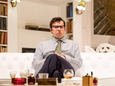 Simon Bird in The Philanthropist. Photo: Manuel Harlan