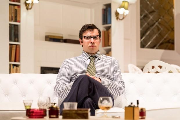 Simon Bird in The Philanthropist. Photo: Manuel Harlan