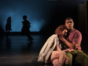 Sarah Greene and John Boyega in Woyzeck. Photo: Manuel Harlan