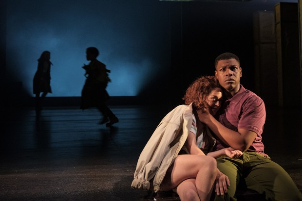 Sarah Greene and John Boyega in Woyzeck. Photo: Manuel Harlan