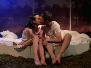 Hannah Millward and Bradley Hall in This Beautiful Future. Photo: Richard Lakos