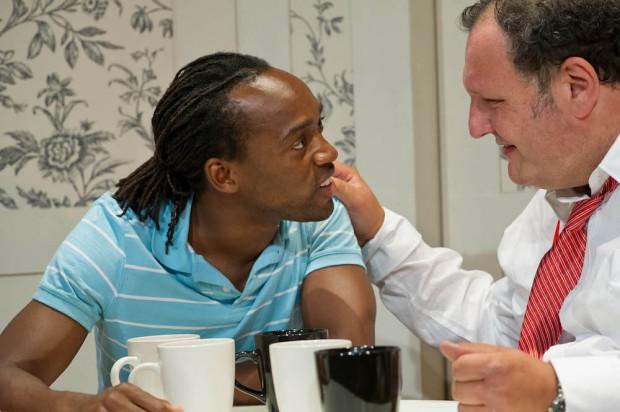 Jotham Annan and David Verrey in Mirror Teeth. Photo: Robert Workman