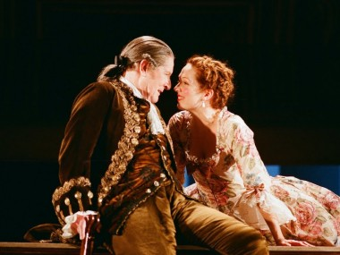 Alan Howard and Katherine Parkinson in The School for Scandal. Photo: Neil Libbert