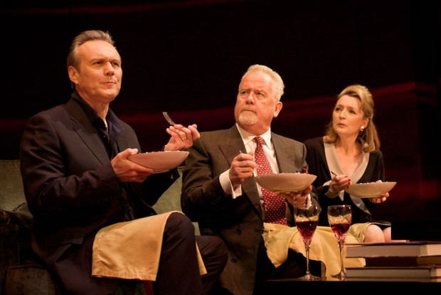 Anthony Head, Ian Redford and Lesley Manville in Six Degrees of Separation