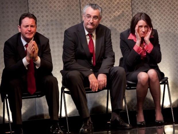 Hywel Morgan, John Hodgkinson and Tracy Gillman in A Walk on Part