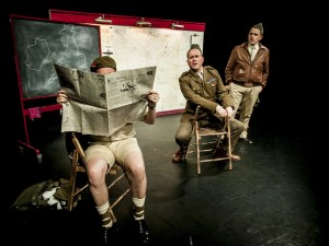 Matt Sheahan, Dan March and James Millard in Instructions for American Servicemen in Britain. Photo: Lidia Crisafulli