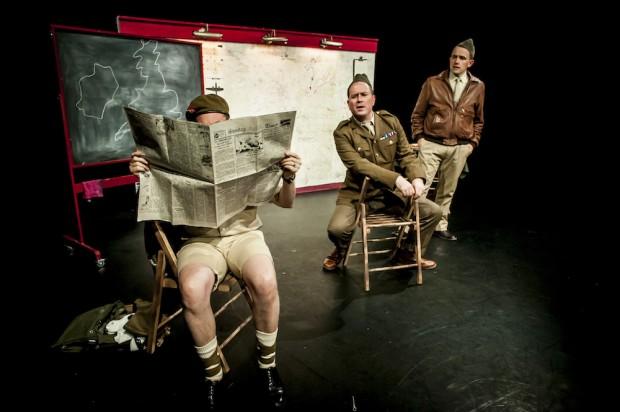 Matt Sheahan, Dan March and James Millard in Instructions for American Servicemen in Britain. Photo: Lidia Crisafulli