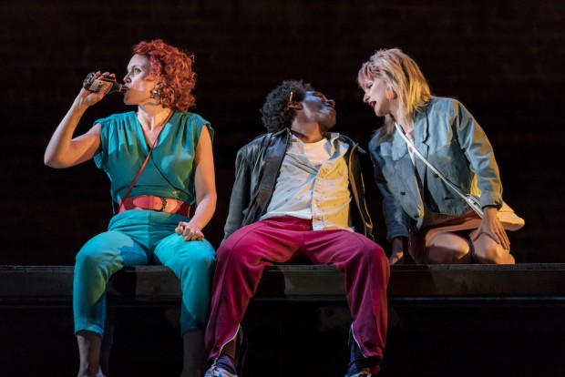 Liz White, Lemn Sissay and Faye Marsay in Road. Photo: Johan Persson