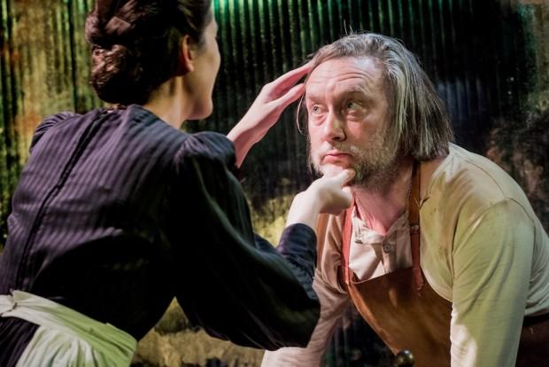Laura Morgan and Jasper Britton in The Blinding Light. Photo: Robert Workman