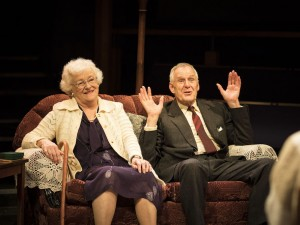 Sue Wallace and Ian Gelder in The March on Russia. Photo: Helen Maybanks