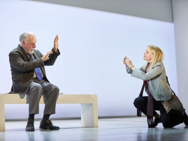Kenneth Cranham and Anne-Marie Duff in Heisenberg: The Uncertainty Principle. Photo: Brinkhoff Mogenberg