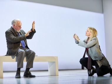 Kenneth Cranham and Anne-Marie Duff in Heisenberg: The Uncertainty Principle. Photo: Brinkhoff Mogenberg