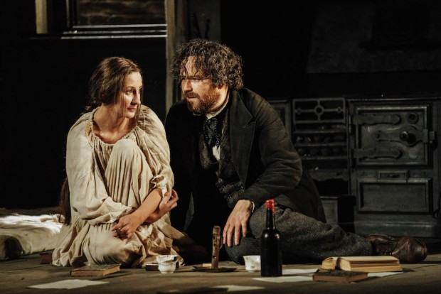 Laura Elphinstone and Rory Kinnear in Young Marx. Photo: Manuel Harlan