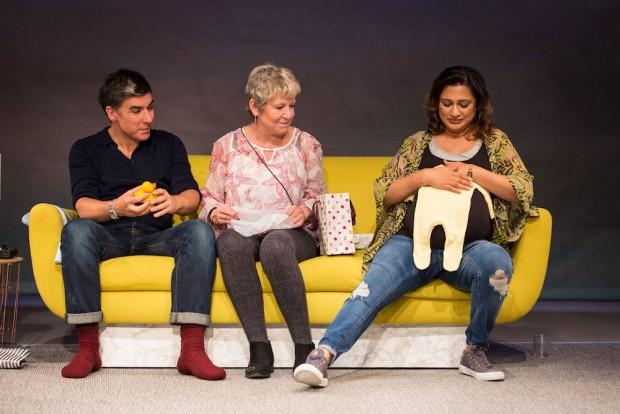 James Lance, Joanna Bacon and Chetna Pandya in Of Kith and Kin. Photo: Helen Murray