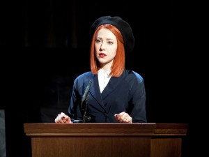 Catherine Steadman in Witness for the Prosecution. Photo: Sheila Burnett