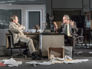 Christian Slater and Stanley Townsend in Glengarry Glen Ross. Photo: Marc Brenner