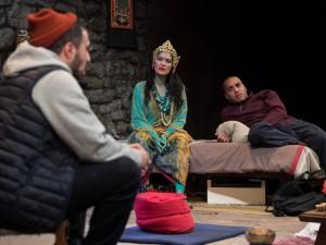Adam Deacon, Yasmine Akram and Samuel Anderson in The Retreat. Photo: Craig Sugden