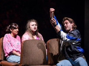 Taj Atwal, Gemma Dobson and James Atherton in Rita, Sue and Bob Too. Photo: The Other Richard