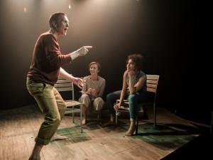 Niall Bishop, Eva-Jane Willis and Tanya Fear in Tiny Dynamite. Photo: Richard Davenport