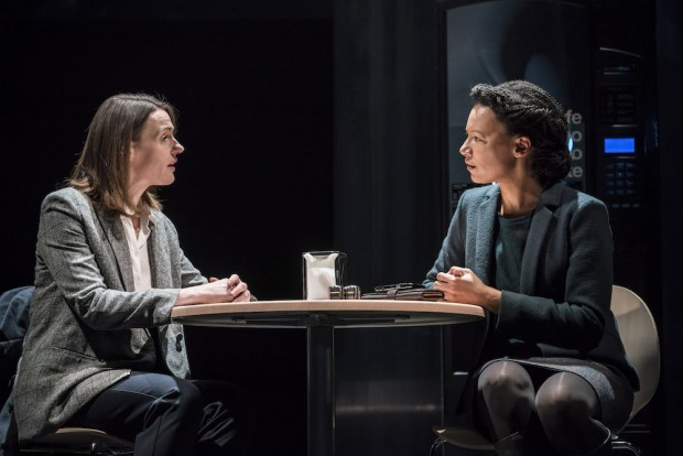 Suranne Jones and Nina Sosanya in Frozen. Photo: Johan Persson