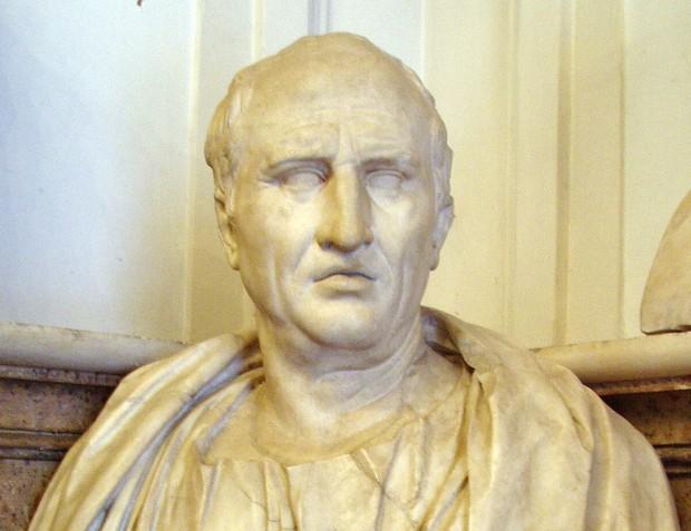 Roman statesman and philosopher Marcus Tullius Cicero