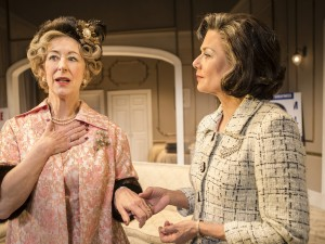Maureen Lipman and Glynis Barber in The Best Man. Photo: Pamela Raith Photography