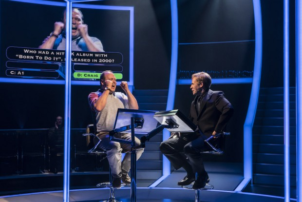 Gavin Spokes and Keir Charles in Quiz. Photo: Johan Persson